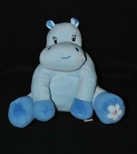 Peluche Doudou Hippopotame ARTHUR ET LOLA BEBISOL Grelot Bleu 2 Tons 20 Cm NEUF