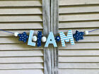 """""""LIAM"""" BLUE WOODEN LETTERS BABYBOY NURSERY DECOR PERSONALIZED BABY NAME BABYNAME"""