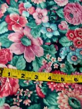 """UNCUT UNUSED 45"""" BY 198"""" FLORAL PRINT POLISHED COTTON  HOME DECOR SEWING FABRIC"""