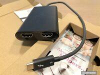 ICY BOX IB-SPL1026-TB3 2-fach Thunderbolt 3 Splitter 1x Thunderbolt 3 zu 2x HDMI