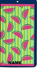 "30"" x 60"" Name Embroidered Beach / Pool Towel With Watermelon Slices Design"