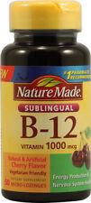 Nature Made Vitamin B-12 Sublingual Cherry -- 1000 mcg - 50 Lozenges
