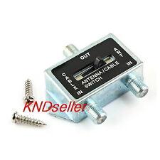 2 WAY A/B Coaxial Coax RF Switch Manual Selector Push Button Cable TV Antenna