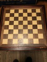 hand carved and hand painted chess/checkers set