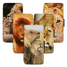 Lion Designs Family Flip Phone Case Cover Wallet - Fits Iphone 5 6 7 8 X 11