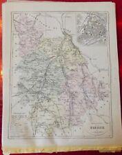 Old Map 1900 France Département Vienne Poitiers Lussac Dange Montmorillon