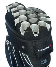 Founders Club Premium Cart Bag with 14 Way Organizer Divider Top - Black