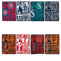 New Baseball League Teams Fleece Throw Blanket Collection 50'' x 60'' Northwest
