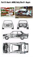 Decal - Fiat 131Abarth - ARMEL  - Beguin -  Rally Elba 1981