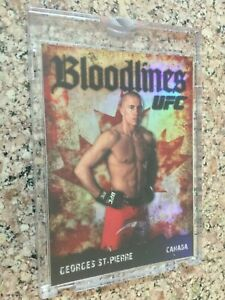 2009 Topps UFC Round 2 Bloodlines Blank Back GEORGES ST-PIERRE - 1/1 Topps Vault