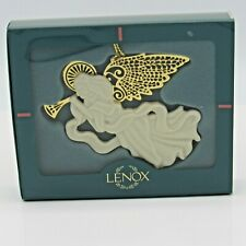 Lenox 1996 Christmas Gold Heralding Angel with Trumpet Ornament w/Box (1Zrc)