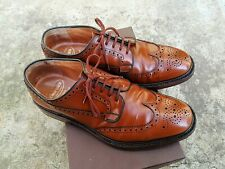 Church's Grafton size 9 fit G Brown Leather Brogues Shoes Derby English