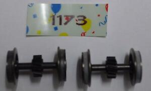 HO Gützold Radsatz mit Haftreifen bis Bj. 1992 (2 Stück) 01173