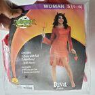 Devil  Women  Halloween Costume SMALL 4-6 By Rubies NEW c1