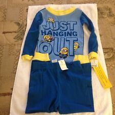 DESPICABLE ME MINION BOYS PAJAMA SET SIZE 4 BLUE COTTON NEW WITH TAGS