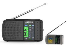 Axess PR3206 Portable/Rechargeable Mini AM/FM Radio +USB/TF Slot