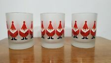 New ListingCulver Fat Santa Claus Christmas Frosted Glasses Old Fashioned Tumbler Barware