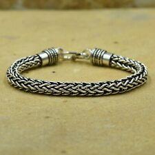 Bracelet for Men And Women Artisan 925 Sterling Silver Foxtail Chain