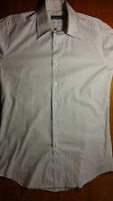 camicia DOLCE & GABBANA uomo slim, righina bianca celeste, 42