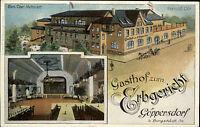 Göppersdorf bei Burgstädt color AK Gasthof Zum Erbgericht Besitzer Carl Mehnert