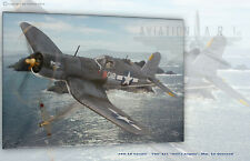 F4U-1A Corsair - VMF-321 Hell's Angels Aviation Art Canvas print