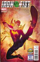 Iron Fist 1 Marvel 2017 NM Golden Apple Wondercon Bill Sienkiewicz Variant
