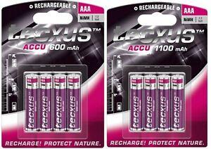 Tecxus Akkus AAA Micro 600 / 1100 mAh aufladbare Batterien Telefon Gigaset u.a.