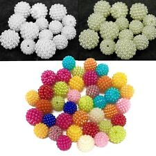 Faux Pearl Cluster Beads (10mm, 12mm, 14mm) - Ivory, White or Multi Colour