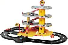 Parkhaus Rennbahn Faro 804 Spielzeughaus Kinderrennbahn Rampe Tankstelle bunt