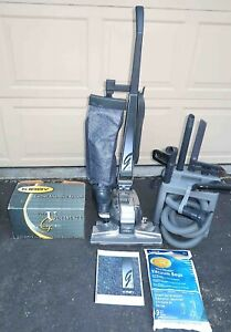 Kirby G4D Upright Vacuum Cleaner w Carpet Shampoo System + Attachments in Caddy