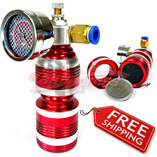 Air Intake TURBO CHARGER COMPRESSOR Accelerator Fuel and Gas Saver Gauge RED