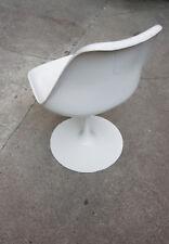 Knoll International Tulip Chair Eero Saarinen weiß Stuhl 60er Jahre