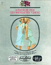 PUBLICITE ADVERTISING 056  1964  Cidéna  Blip lingerie pyjama Fleur de peau