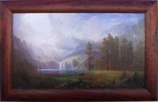 Albert Bierstadt  Mt Whitney 1875 Custom Framed Canvas Transfer 27 x 42 Wormwood