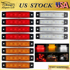 12x LED Side Marker Indicator Lights Truck Trailer RV Red Amber White Waterproof