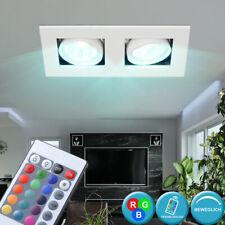LED Decken Einbau Spots dimmbar RGB Fernbedienung Leuchte Strahler verstellbar