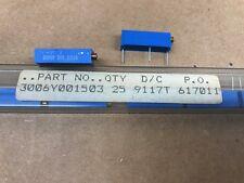 (10 pcs) 3006Y-1-503 Bourns, 50K ohm 0.75 Watt 15-Turn, Trimmer Potentiometer