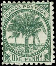 Samoa Scott #11e Mint  Cats $20