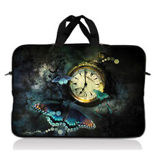 "15"" 15.6"" Laptop Notebook Sleeve Bag Case w Handle Butterfly Clock 15-SD50"
