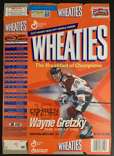 WAYNE GRETZKY #99 WHEATIES CEREAL BOX TEAM CANADA/ RANGERS VINTAGE MADE IN 🇨🇦