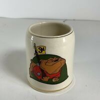 "Vintage 1965 Walt Disney Productions US Army 3rd Infantry ""Rocky"" Bulldog Mug"