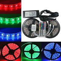 1-30m RGB LED Strip Light Waterproof SMD 5050 Flexible IR Controller Adapter 12V