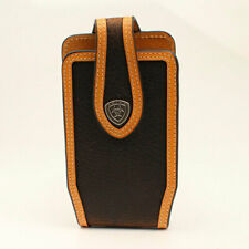 Blackberry Vtg Black Leather Case Slim Pouch & Belt Clip Holder Lot 2