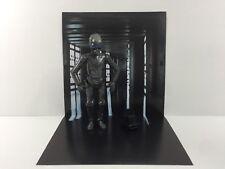 """custom star wars death star corridor backdrop ikea detolf display 12"""" sideshow B"""