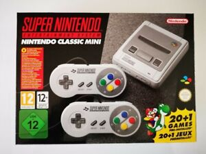 Nintendo Snes Classic Mini console with 12K games and extras!