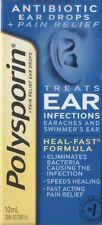 Polysporin Antibiotic Ear Drops Treats Ear Infections 15 ml Heal-Fast Formula