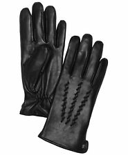 Lauren Ralph Lauren Whipstitched Touchscreen Genuine Leather Gloves Black S/M/L