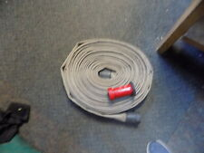 Fire Hose 1 12 X 75 Aluminum Fittings And Red Ufs Nozzle Needs New Gasket
