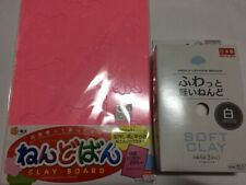 DAISO Light polymer clay 1pac w/clay bord set Free Shipping From Japan