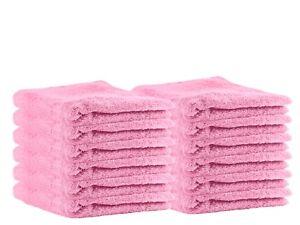 "Premium 13"" by 13"" Hotel & Bath 100% Cotton Wash cloth Set of 12 by Puffy Cotton"